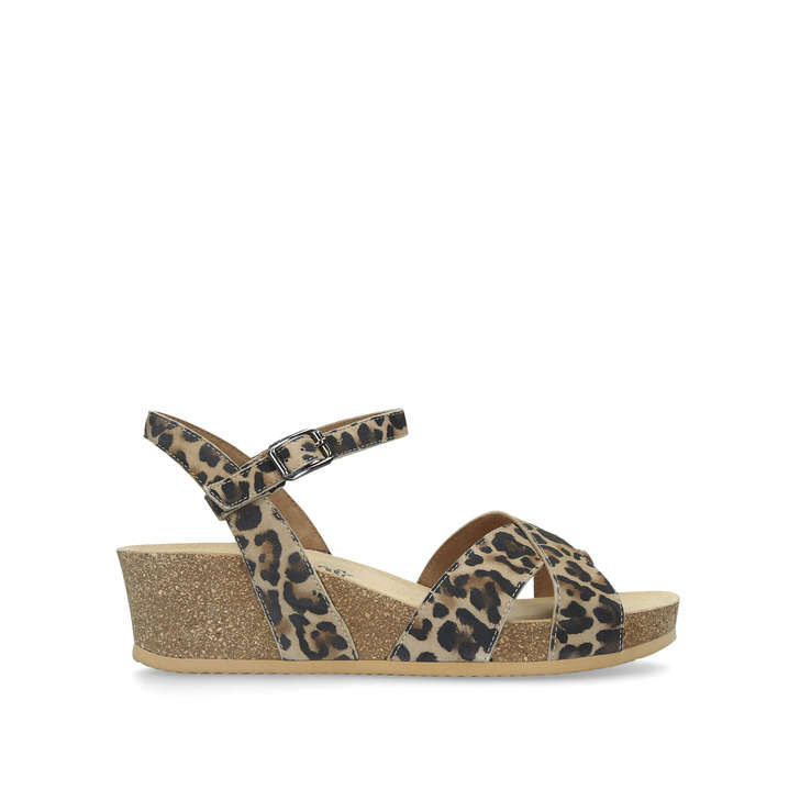 Leopard Wedge By Leather Paul Geiger Print GreenKurt Amy Sandals rCQshtd