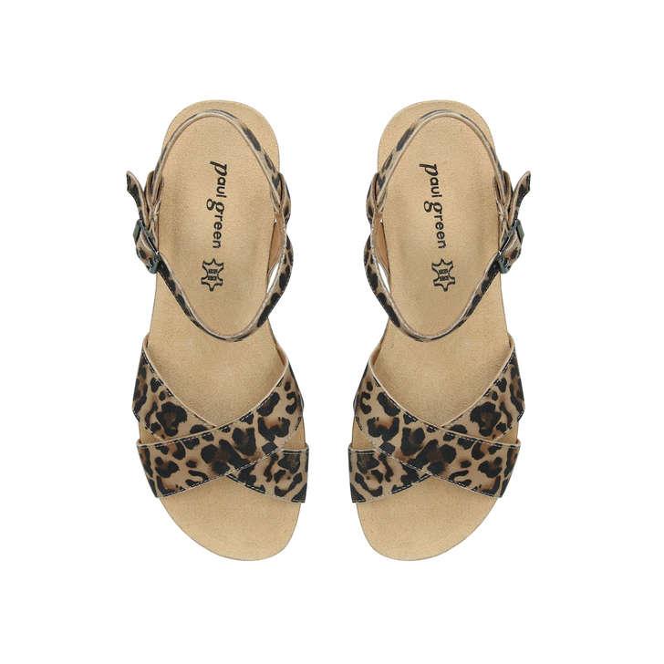 Amy Print Leopard Sandals Paul By Geiger Wedge GreenKurt Leather 5LAj4R
