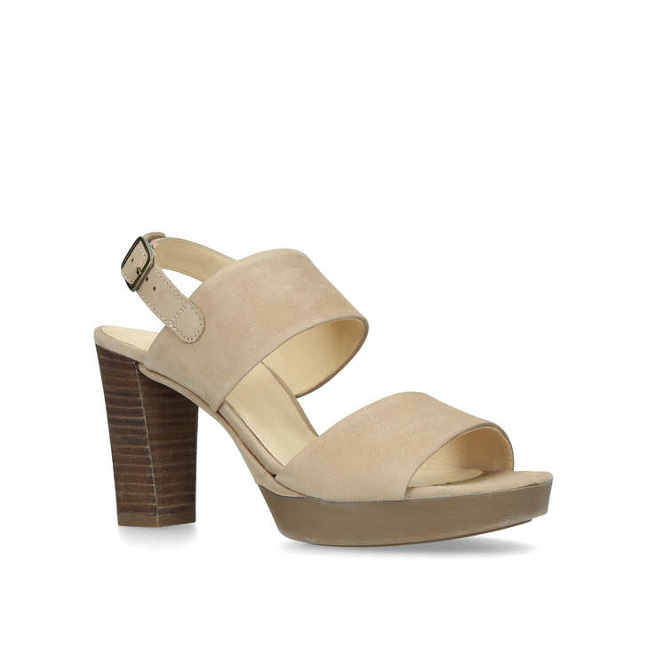 01053f76e84d4 Charlotte Nude Block Heel Sandals By Paul Green | Kurt Geiger