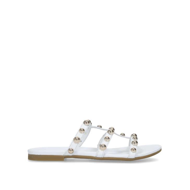 de6c8740f Kaddie White Embellished Flat Sandals By Carvela | Kurt Geiger