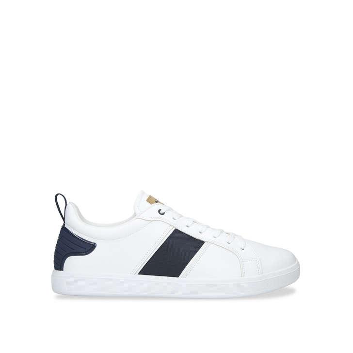 86ea126310f Olardon Stripe Tennis White Low Top Trainers By Aldo