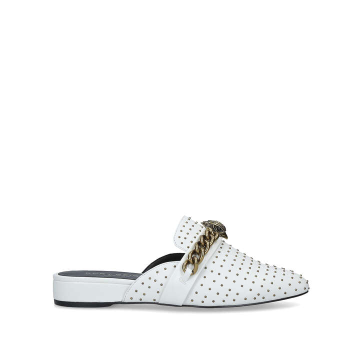 c984f2d6e32b Chelsea Mule White Studded Backless Mules By Kurt Geiger London | Kurt  Geiger