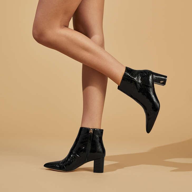 Burlington Ankle Boot Black Patent Croc