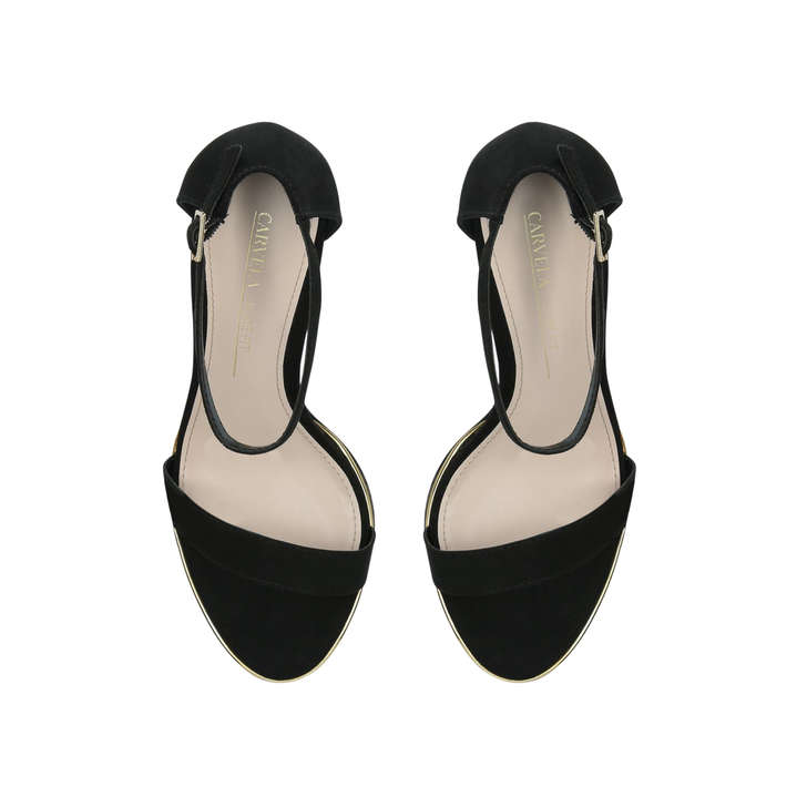 a80df02ec2c Wide Fit Kink Wide Fit Black Suedette Strappy Sandals By Carvela ...
