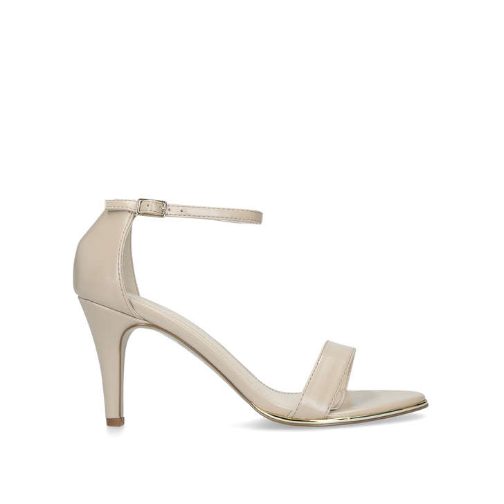 bf2858eddcf Wide Fit Kink Wide Fit Nude Strappy Sandals By Carvela