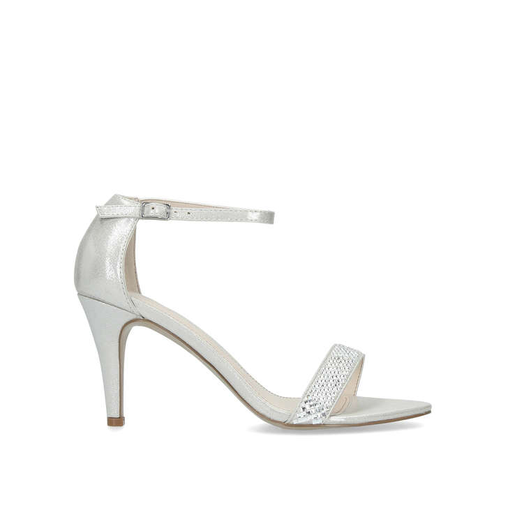 969588628a4 Wide Fit Kink Wide Fit Silver Strappy Sandals By Carvela
