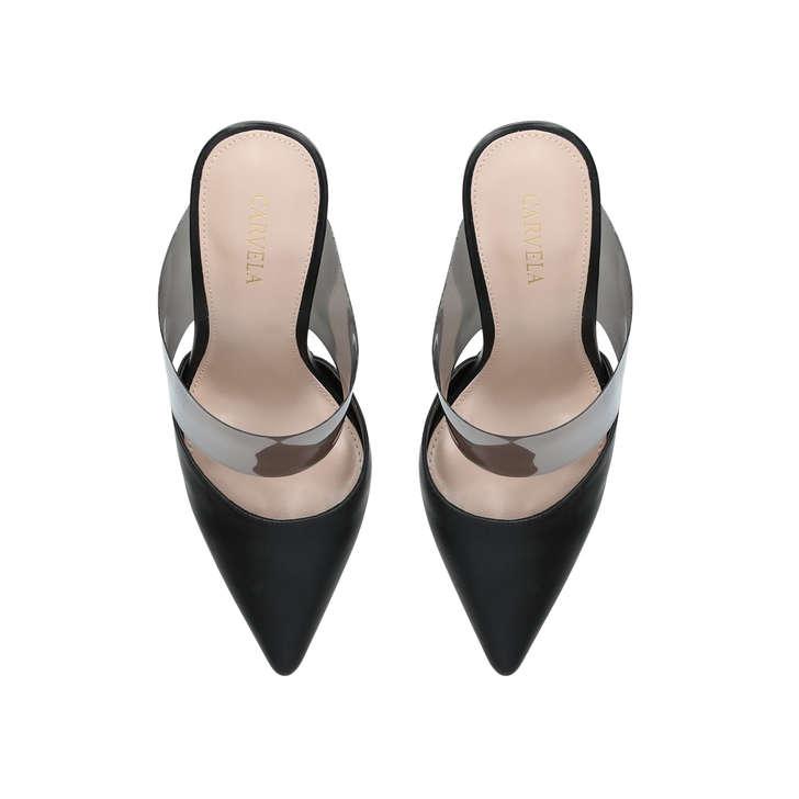 ffaec8bb9eb Lexx Black Perspex Stiletto Heel Court Shoes By Carvela   Kurt Geiger