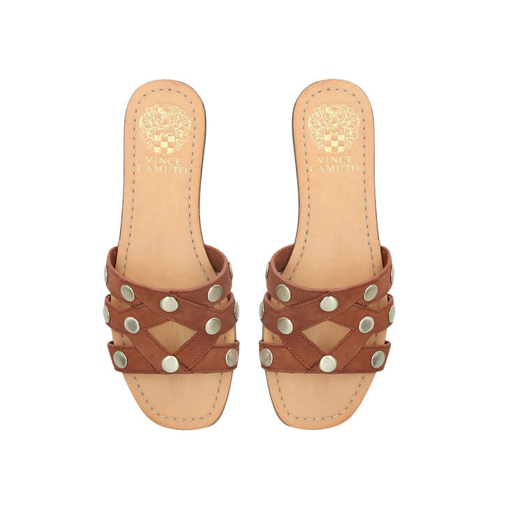 05ff0012054a Vazista Brown Studded Sandals By Vince Camuto