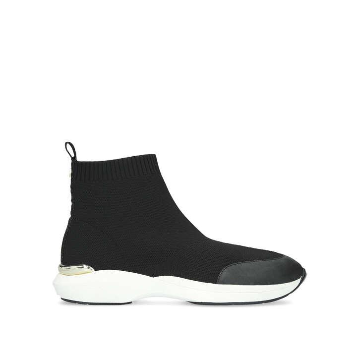 JIBBERISH Black High Top Knitted Sock