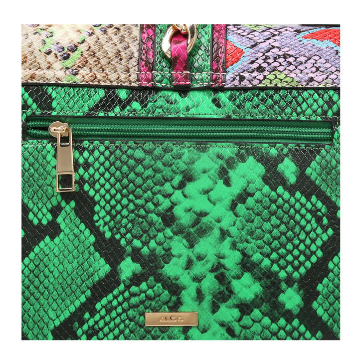 c5e0e6b2ea3 Glendaa Snake Print Shoulder Bag With Scarf By Aldo
