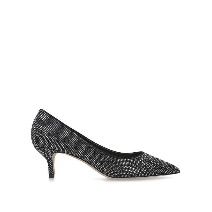 b835f781c8a Agriliniel Black Embellished Kitten Heel Court Shoes By Aldo