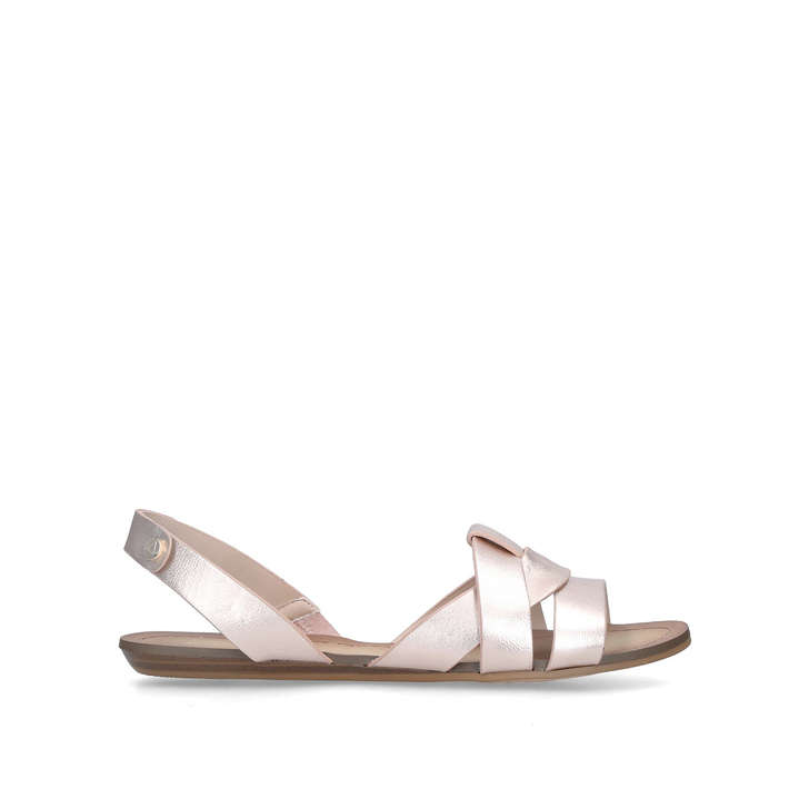 Gold Deladriewiel Rose Toe Flat Sandals AldoKurt Leather Pep By 29DHIE