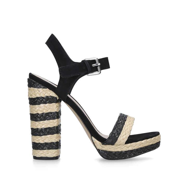 Huglag Black Platform Heeled Sandals By Aldo