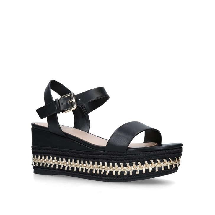 12bca244e14d Mauma Black Wedge Espadrille Heeled Sandals By Aldo