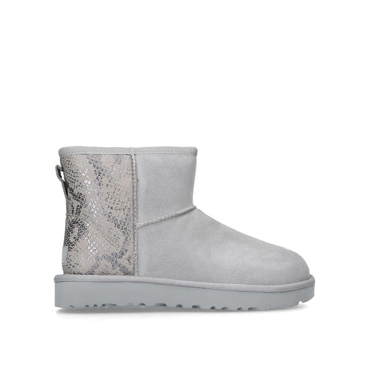 2163a87532ad Classic Mini Mtlic Snake Grey Suede Short Boots By UGG | Kurt Geiger