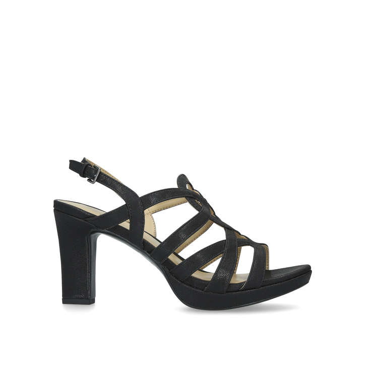 a085356b1cb Cameron Black Leather Block Heel Sandals By Naturalizer