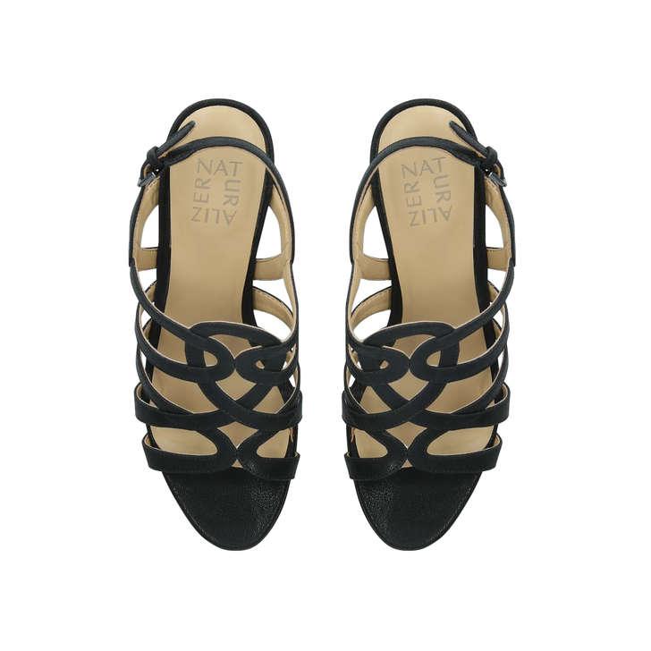 c79a037868 Cameron Black Leather Block Heel Sandals By Naturalizer | Kurt Geiger