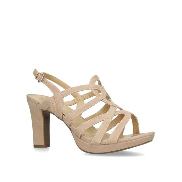 faafb579201 Cameron Orange Leather Block Heel Sandals By Naturalizer
