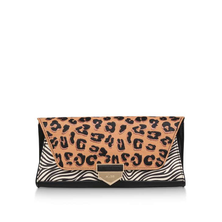 76afa041d5b Herolsinki Leopard And Zebra Print Clutch Bag By Aldo