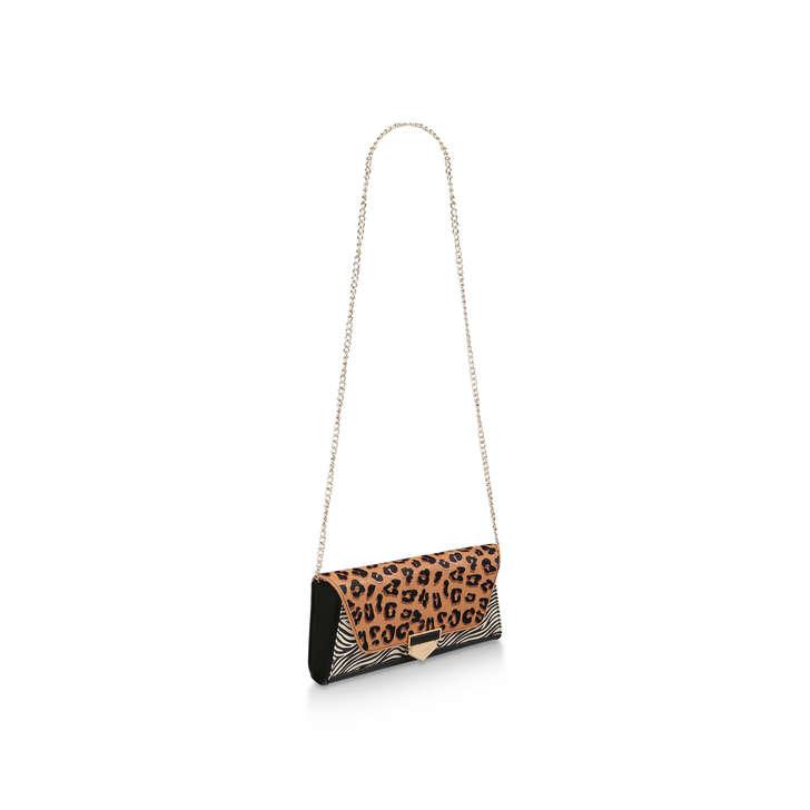 f3639f95e6d Herolsinki Leopard And Zebra Print Clutch Bag By Aldo