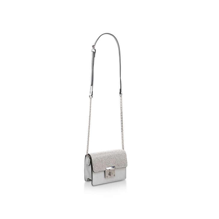 eb26f1a54ca Legoide Silver Embellished Cross Body Bag By Aldo | Kurt Geiger