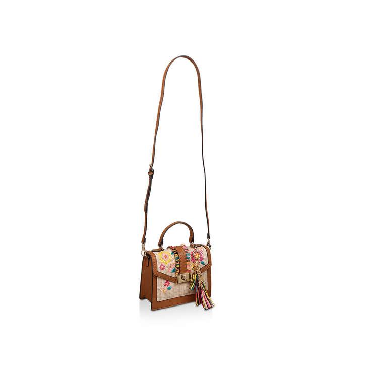 c19ec571f2 Oluniel Brown Embroidered Tassel Cross Body Bag By Aldo | Kurt Geiger
