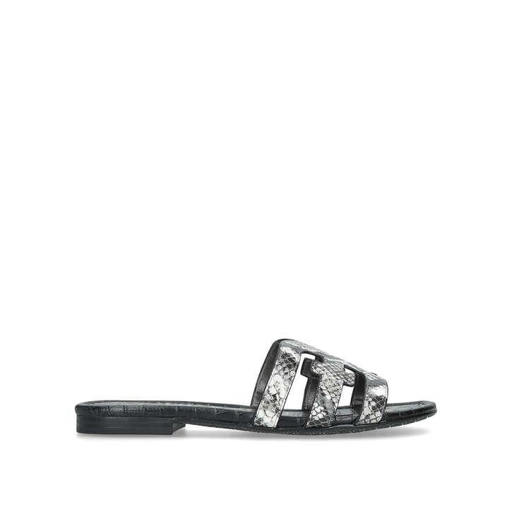 eb059717008e Bay Snakeskin Flat Sandals By Sam Edelman