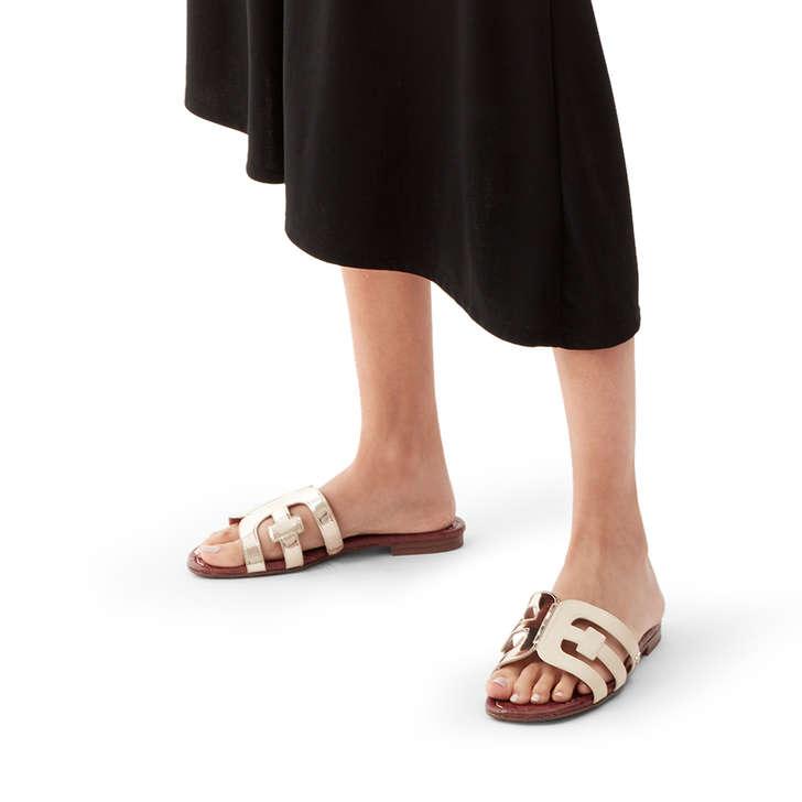 bc6eebf955f2 Bay White Flat Sandals By Sam Edelman