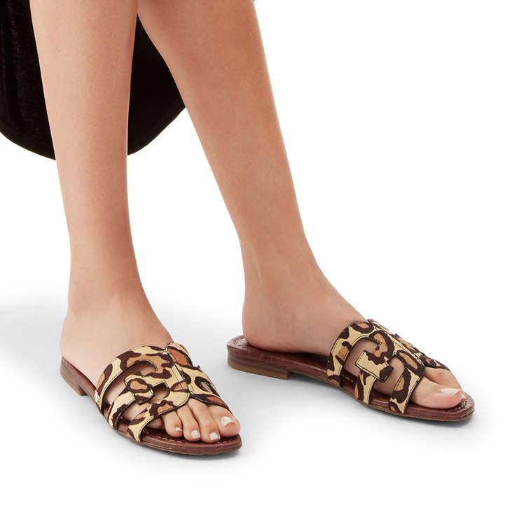 258f6f51eeb1 Bay Leopard Print Flat Sandals By Sam Edelman   Kurt Geiger