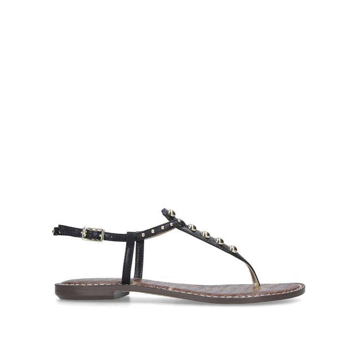 55e7dbbbd Gigi Black Embellished Flat Sandals By Sam Edelman