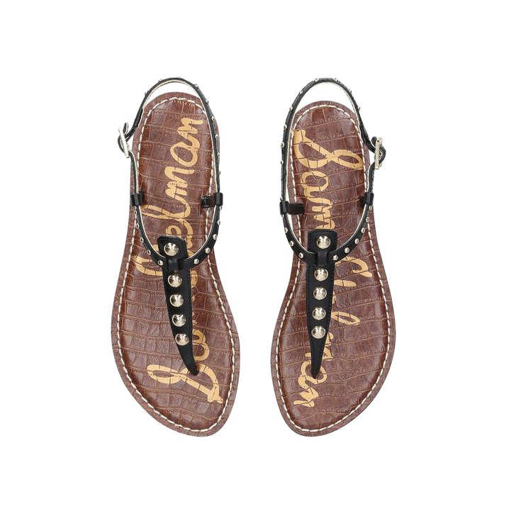 457ef2e10 Gigi Black Embellished Flat Sandals By Sam Edelman