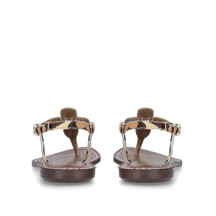 da39b29d4 Gigi Leopard Print Embellished Flat Sandals By Sam Edelman