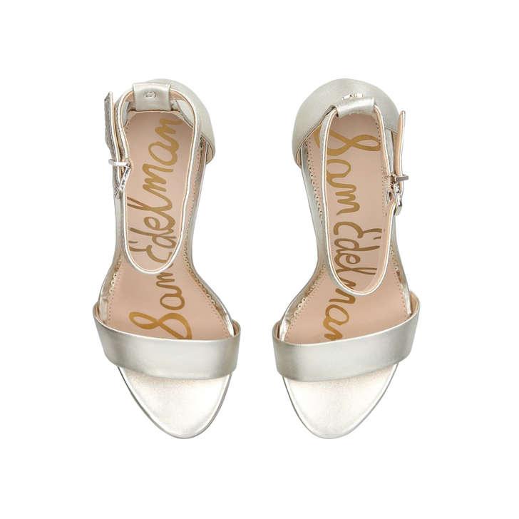 6f1b868b1503 Yaro Metallic Block Heel Strappy Sandals By Sam Edelman