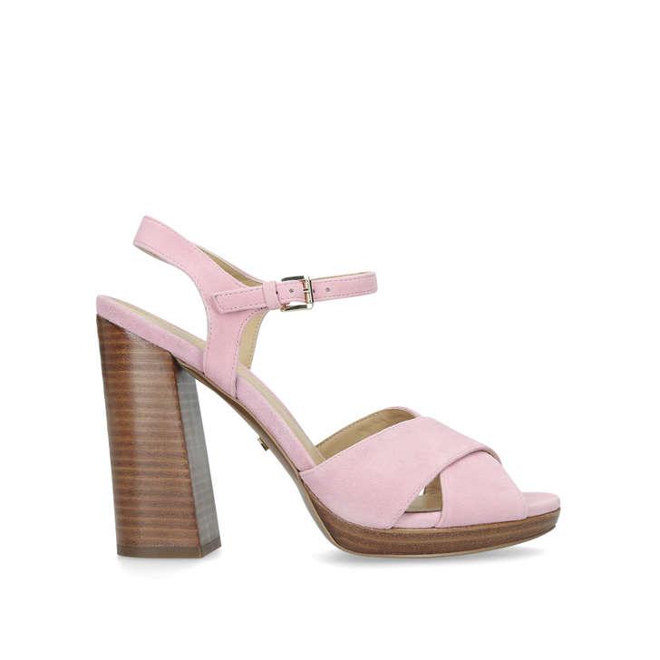 43ee6698c77 Alexia Platform Pink Suede Platform Sandals By Michael Michael Kors ...
