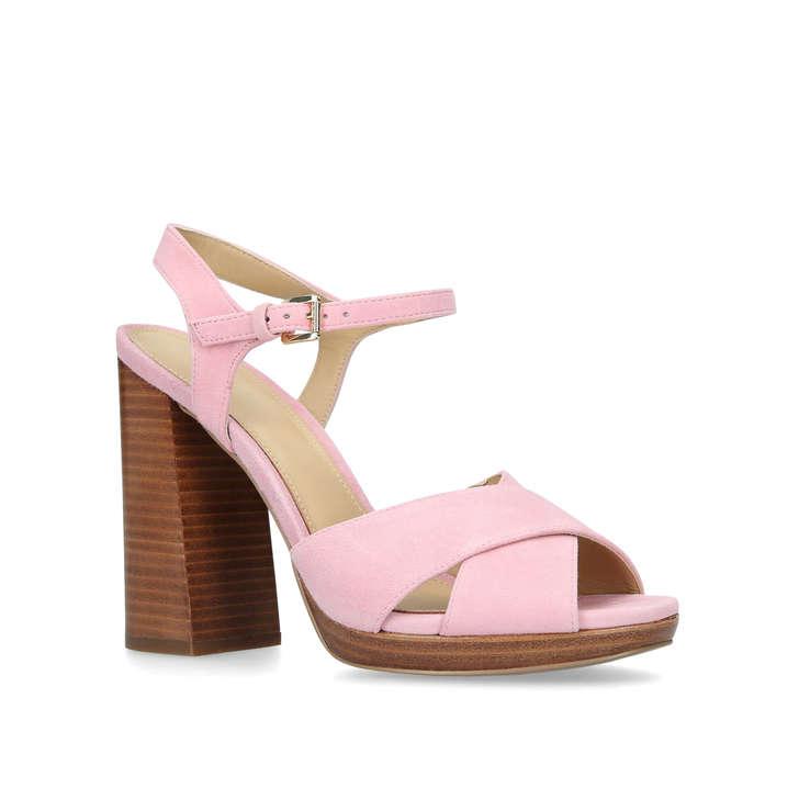 e929a5db65d ALEXIA PLATFORM Pink Suede Platform Sandals by MICHAEL MICHAEL KORS ...