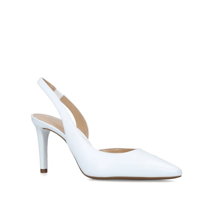 765c968596d Lucille Flex Sling White Leather Slingback Courts By Michael Michael Kors