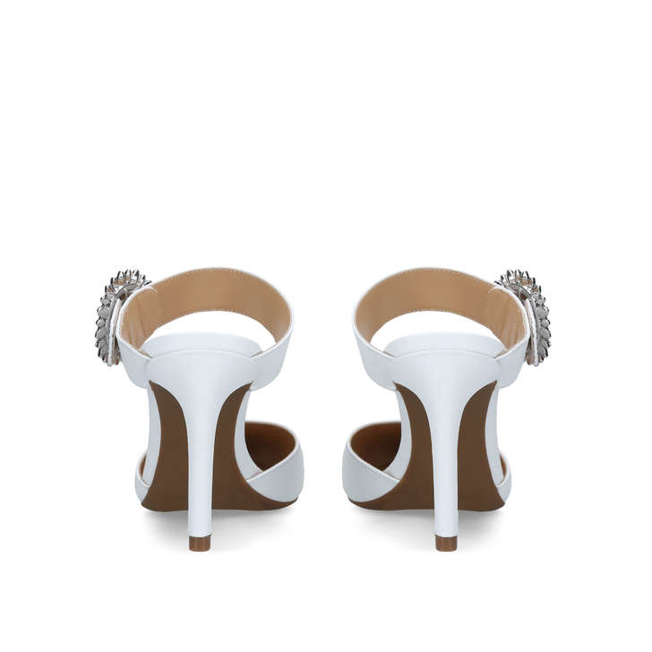 1a4cd405a8cc Viola Flex Closed Toe White Embellished Backless Court Shoes By Michael  Michael Kors | Kurt Geiger