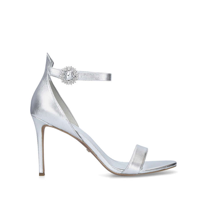 587d13fe073 Viola Sandal Silver Stiletto Heel Strappy Sandals By Michael Michael Kors
