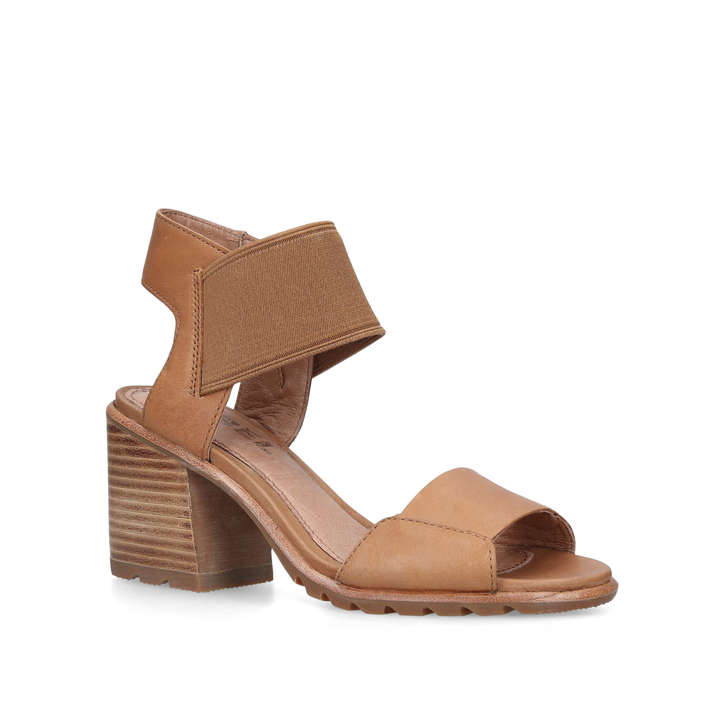 073140e2eeb Nadia Sandal Tan Block Heel Sandals By Sorel | Kurt Geiger