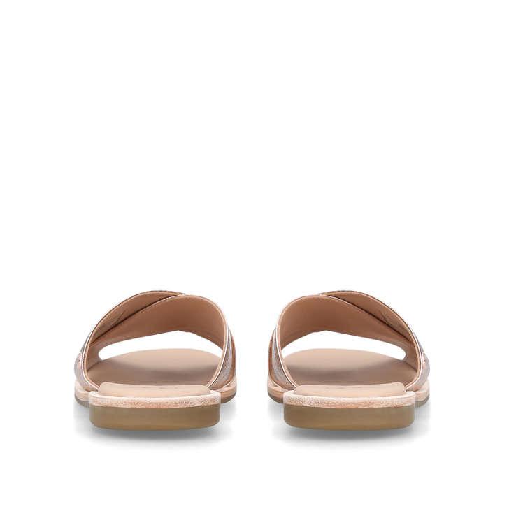 52f305e0d87 Joni Metallic Rose Gold Leather Flat Sandals By UGG