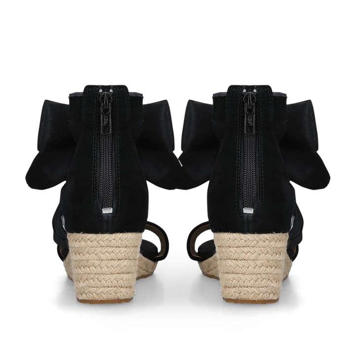 c4d249d17cc Trina Black Suede Wedge Heel Sandals By UGG