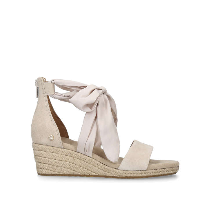 962833861ad Trina Nude Suede Wedge Heel Sandals By UGG