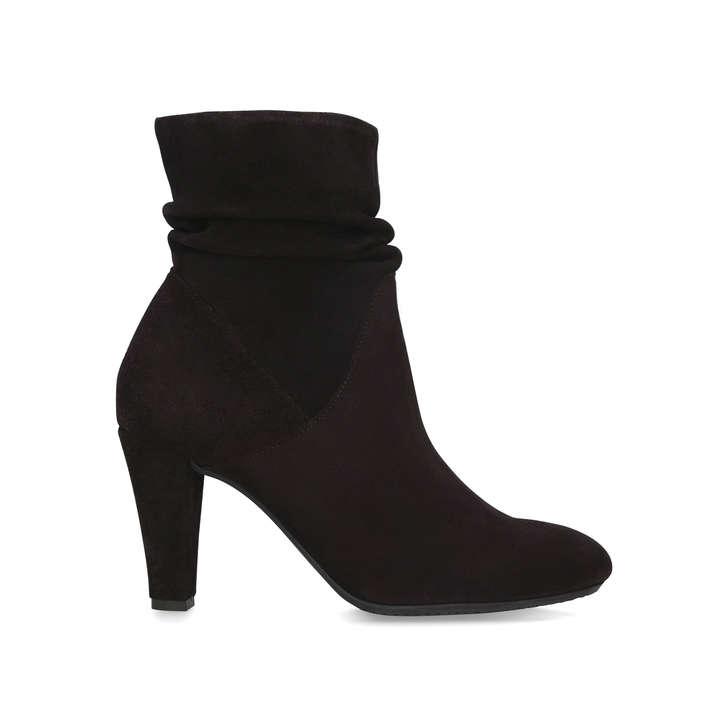 get new special for shoe closer at RITA Dark Brown Block Heel Ankle Boots by CARVELA COMFORT | Kurt ...