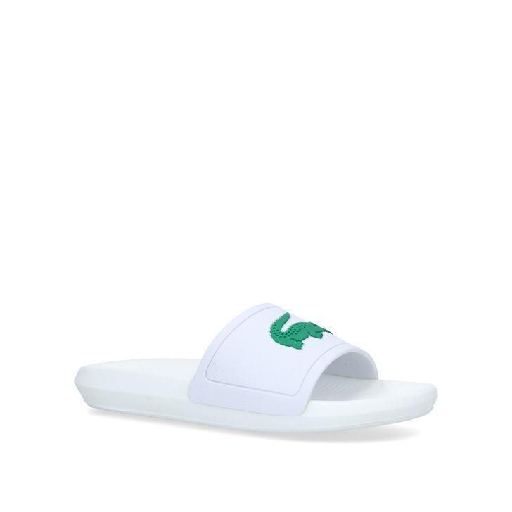 8fab6f1cc7f5 Croco Logo Slide Men s White Sliders By Lacoste
