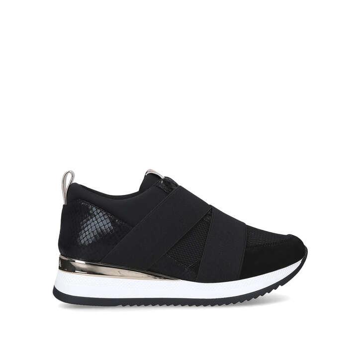 JUST Black Slip On Sneakers by CARVELA