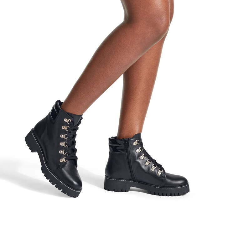 Stolen Black Lace Up Hiker Boots By