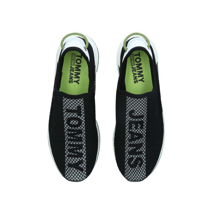 0488e18a5ee7ad Tj Mesh Sock Lo Black Slip On Trainers By Tommy Hilfiger | Kurt Geiger