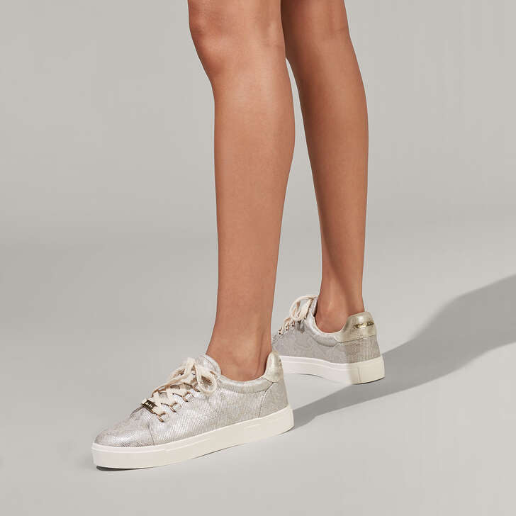 Koby Metallic Lace Up Trainers By Miss