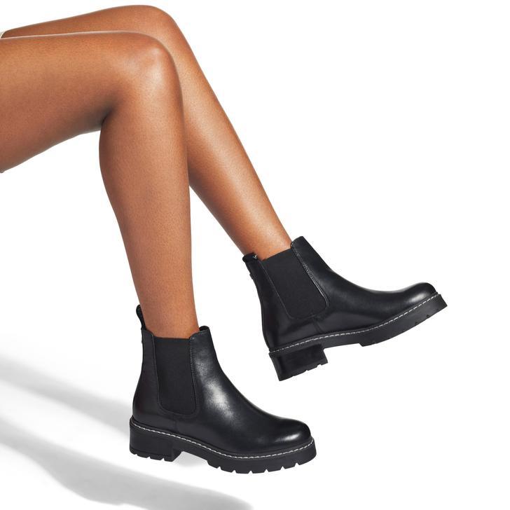 Taken Black Chunky Sole Chelsea Boots