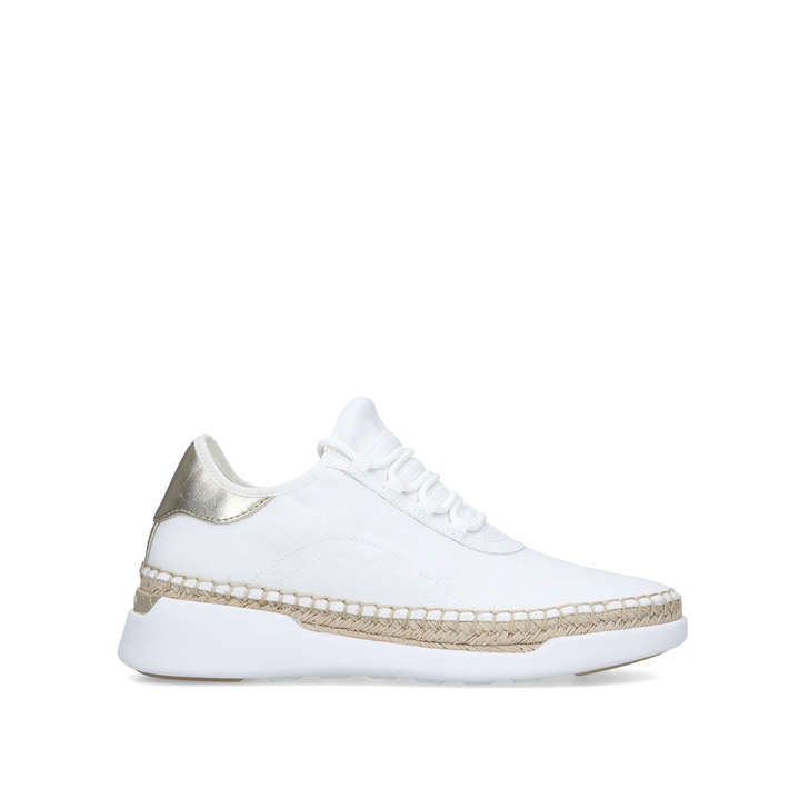 ad33ec88c3c5 Finch Lace Up White Low Top Chunky Trainers By Michael Michael Kors ...